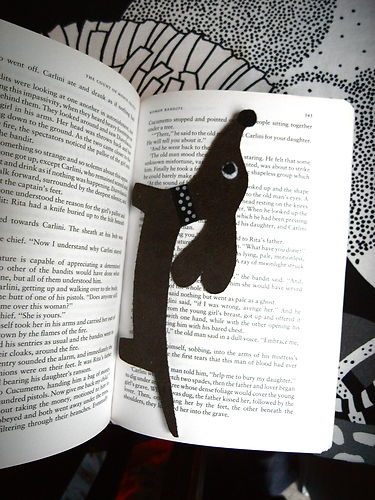 wiener dog bookmark it $ but you could find a similar picture and cut it out