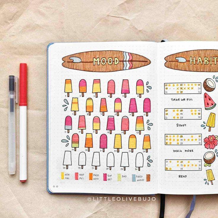 20 Fun Summer Bullet Journal Layouts