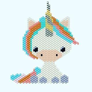 WEBSTA @ clapiottes_et_loupiotte - #unicorn #diagrammeperles #jenfiledesperlesetjassume #beads #miyuki #motifclapiottesetloupiotte
