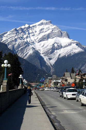 Banff is a town in the Alberta Rockies province of #Alberta. It is the larger of the two towns in Banff National Park, nestled in the mountains, and is located about a hour and half drive west of Calgary and four hours south of Jasper. Banff is part of a #UNESCO #World #Heritage #Site. #Banff #Canada #travel  For more on this location: http://georama.com/#Explore/Canada/Banff/Plan/Info