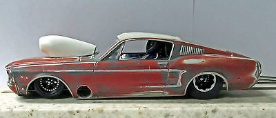 1/24 scale Mustang Barn Find/Rat Rod slot car Drag Racing