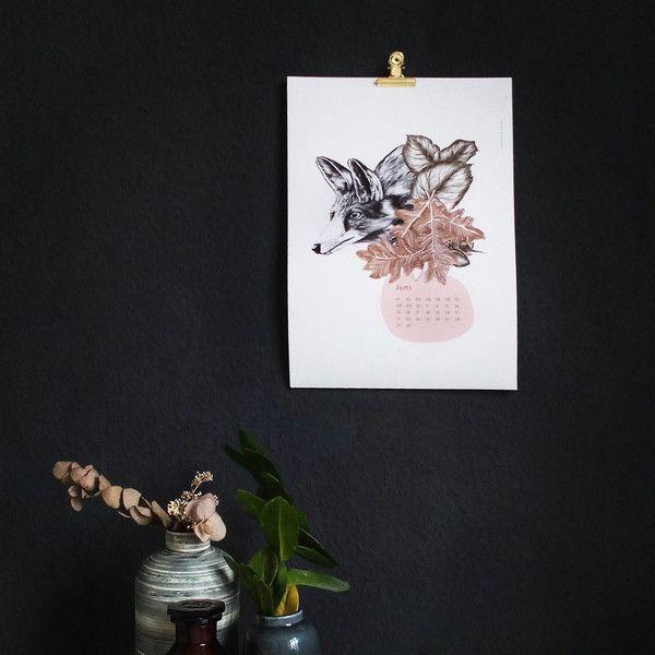 Wandkalender - Flourish in obscurity   Waldtiere-Kalender A3 - ein Designerstück von everywhereyougo bei DaWanda