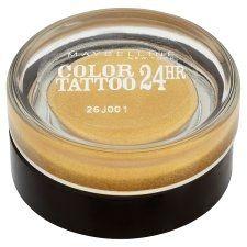 BEAUTYPRIVE.it  Maybelline Color Tattoo 24 Hr Ombretto Gel-Crema Tonalità 75 24K Gold 4 euro