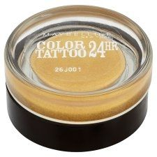 BEAUTYPRIVE.it  Maybelline Color Tattoo 24 Hr Ombretto Gel-Crema Tonalità 75 24K Gold 4 euro