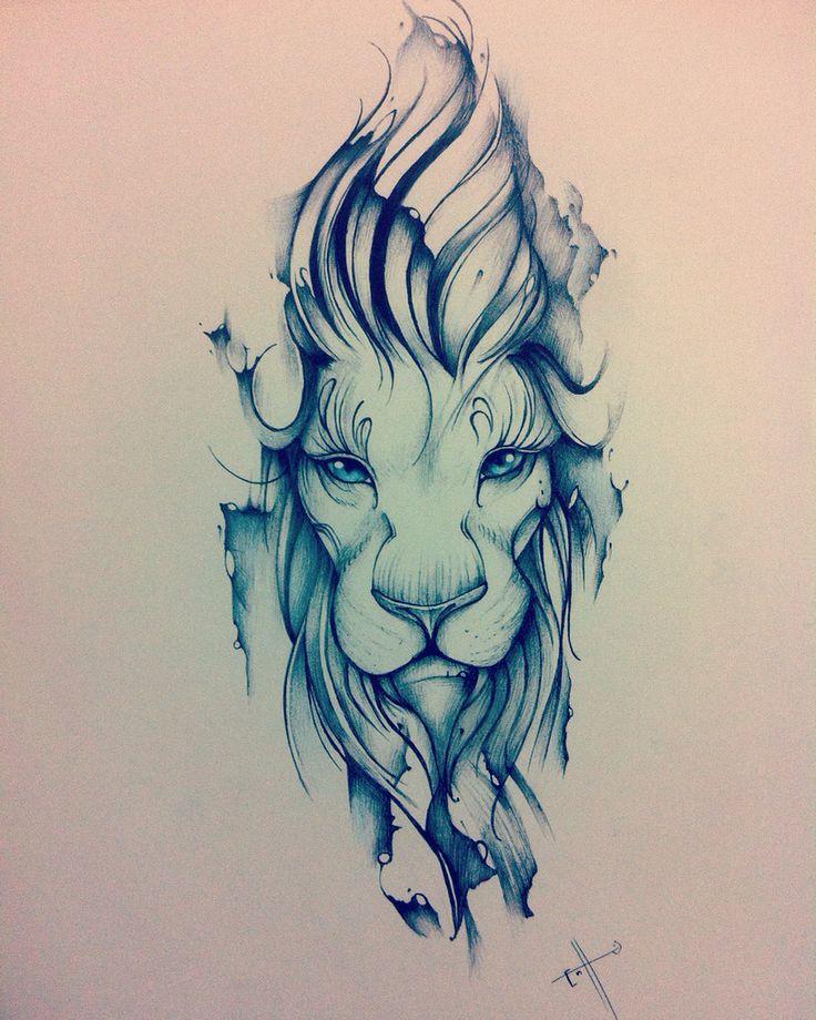 Edson Tovar: Lion, the king.  My Tattoo design. #LionTattoo #ReyLeón Follow-->