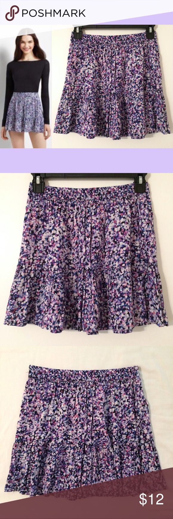 Aeropostale Purple Flippy Peplum Mini Skirt Aeropostale Lorimer NYC Purple Flippy Peplum Mini Skirt Size Medium 100% Rayon Excellent condition!  Perfect for spring or summer!🌸 Aeropostale Skirts Mini