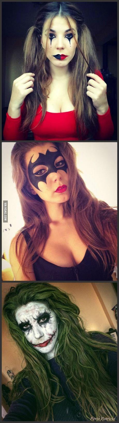 Batman Inspired Halloween Makeup