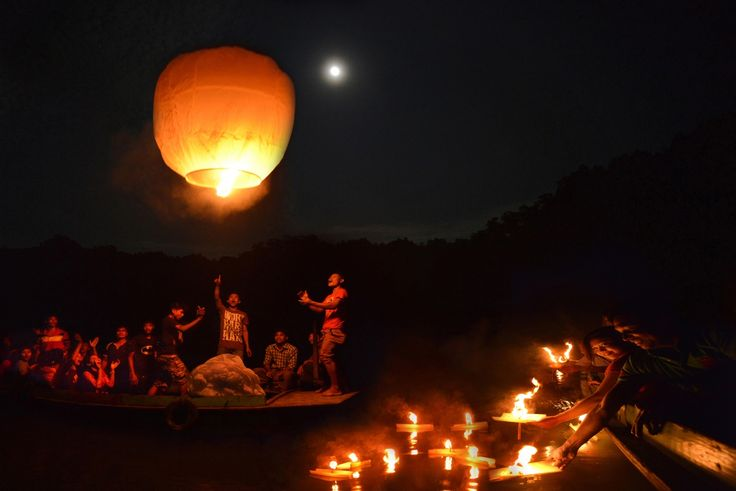 They Buddhist are chakma trival- live in the bank of Chittagong Karnaphuly river. Every year they celebrate the Full Moon in october by secrificing Fanush and Lighting thousands of lamps in the river - Karnaphuly.