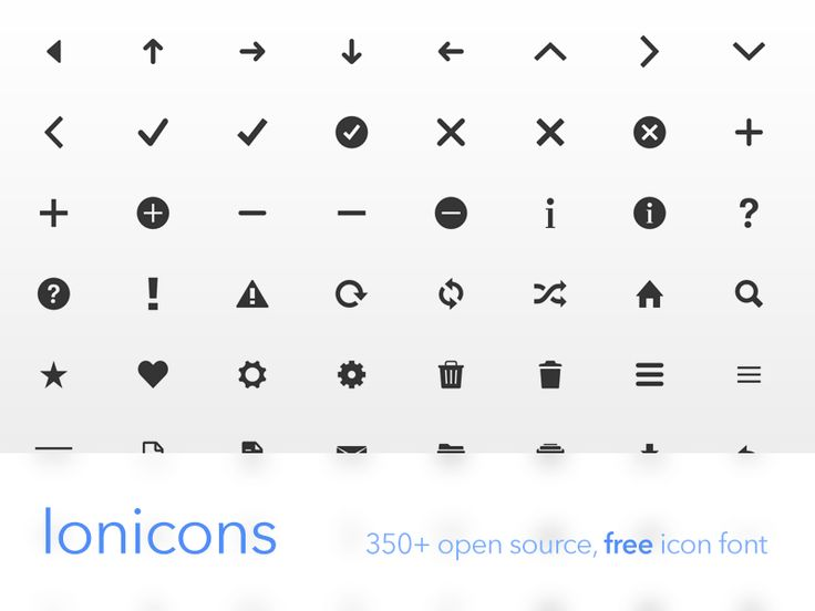 Ionicons, Free & Open Source Icon Font
