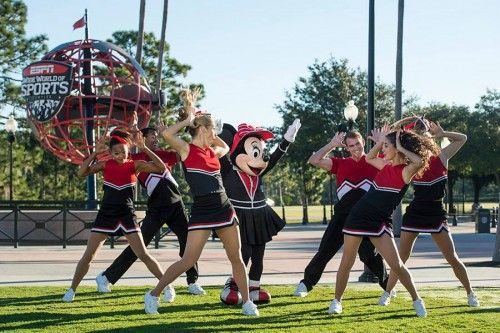 "Rutgers, Auburn, Louisiana State University and Santa Monica College were selected today as the top 4 schools in the ""Cheer On Your Disney Side'' nationwide competition sponsored by ESPN."