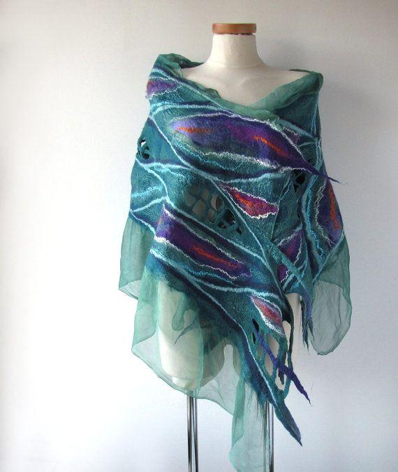 Best 25+ Nuno felt scarf ideas on Pinterest   Nuno felting ...