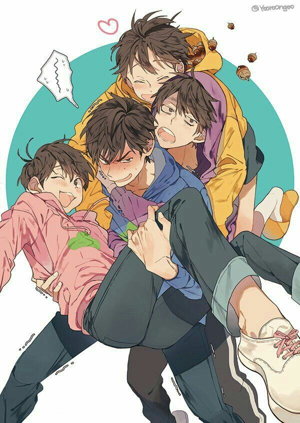 Karamatsu with Todo, Ichi, and Jyushimatsu