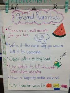 Personal Narrative Anchor Chart