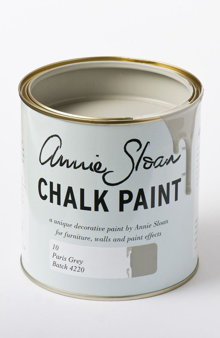 <p>Soft, gentle Paris Grey is inspired by the painted furniture found in elegant French châteaux or old Swedish manor houses. It's made from a mix of blue and orange, so it works naturally well with these complementaries. Use it over Primer Red or Cream, or with Old White or Original.</p> <p>Available in 100ml small project pots and 1 litre tins.</p>