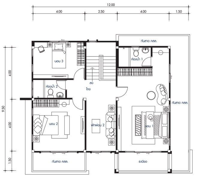House Design Plan 12x9 5m With 4 Bedrooms Home Design With Plansearch Home Design Plans Philippines House Design House Design