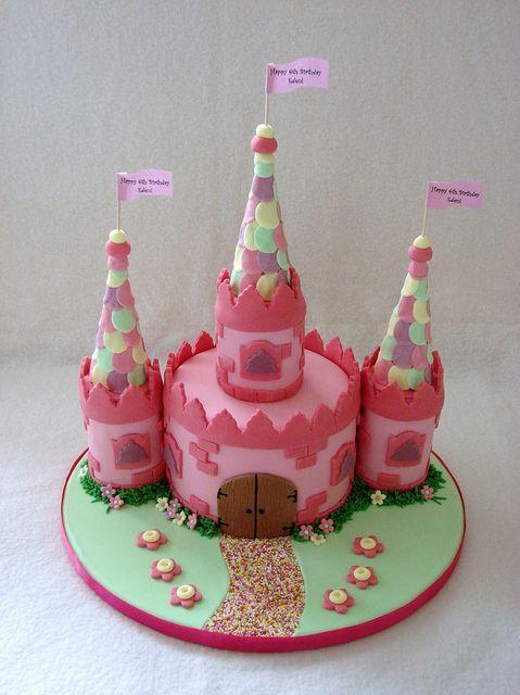 Fairy Princess Castle Cake by RubyteaCakes, via Flickr