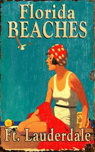 Florida Beaches (U.S.A.) - Vintage travel beach poster images of vintage florida posters - art deco - Google Search www.varaldocosmetica.it/en