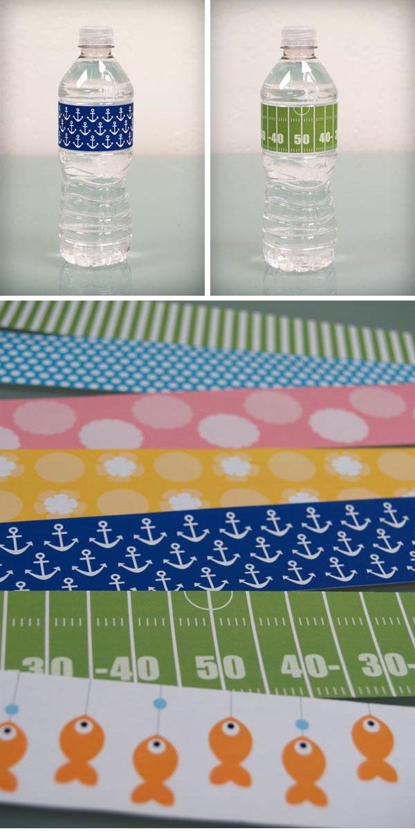 Water Bottle Labels - 7 Designs - Free PDF Printable