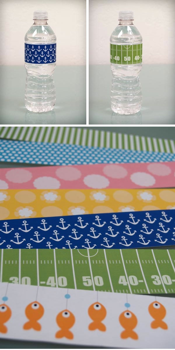 Water Bottle Labels - 7 Designs - Free PDF Printable. I am so excited about this!