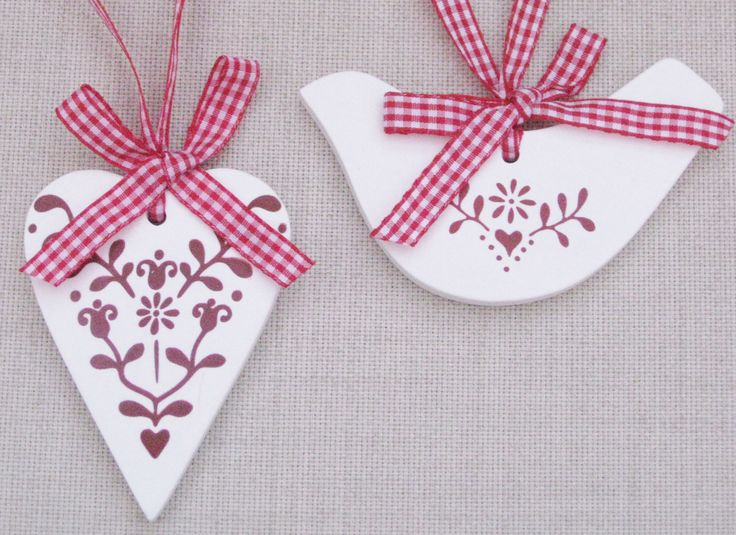 Scented Clays on Gingham Ribbon