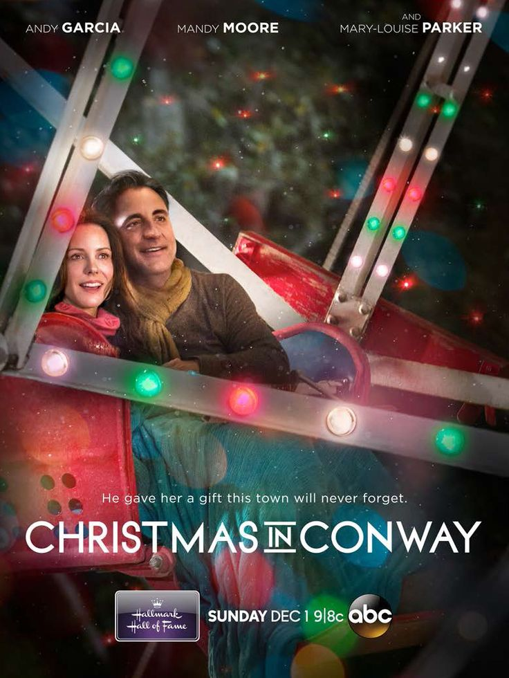 Hallmark Hall of Fame's CHRISTMAS IN CONWAY starring Andy Garcia, Mandy Moore, Cheri Oteri, Riley Smith and Mary-Louise Parker