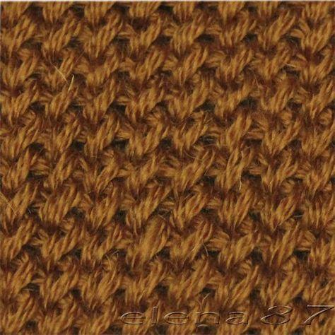 Плотный узор спицами для пальто - подробно для начинающих