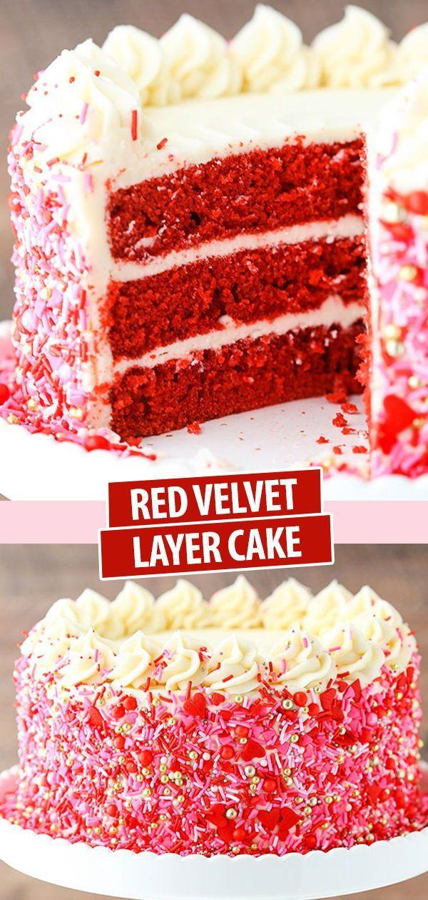 Red Velvet Layer Cake Easy Red Velvet Cake Recipe In 2020 Red Velvet Cake Recipe Velvet Cake Recipes Easy Red Velvet Cake