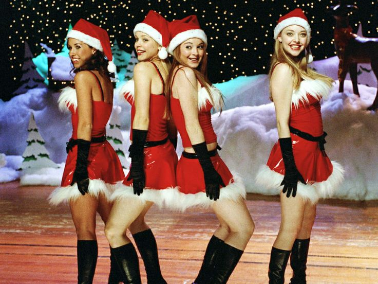 Mean girls: Jingle Bell Rock #Lindsay Lohan #Amanda Seyfried #teeny movie/film