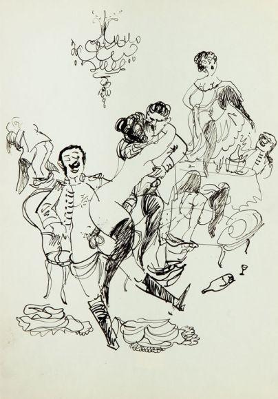Jerzy Flisak - Scena erotyczna, 1955 r.