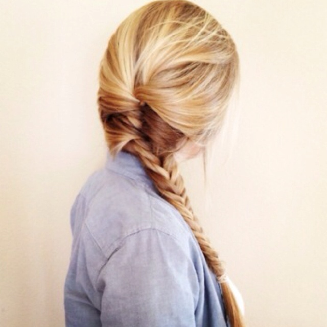 Fishtail side braid: Braids Hairstyles, French Braids, Hair Colors, Haircolor, Long Hair, Longhair, Hair Style, Fishtail Braids, Side Braids