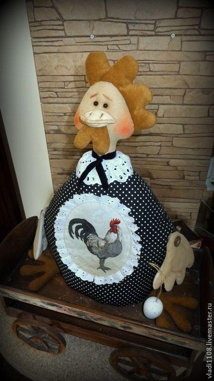 МОНИКА (пакетница) - разноцветный,в горошек,курочка,курица,пакетница