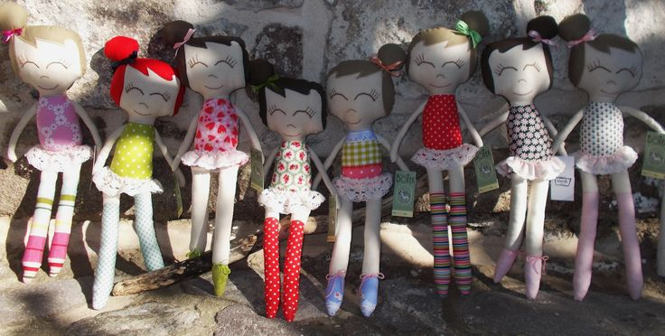 My little doll family :) All of them with their own character. I always find it interesting to see who will be picked out be who <3