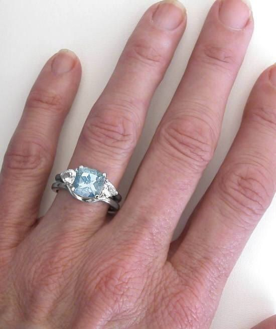 1000 images about aquamarine engagement ring on pinterest. Black Bedroom Furniture Sets. Home Design Ideas