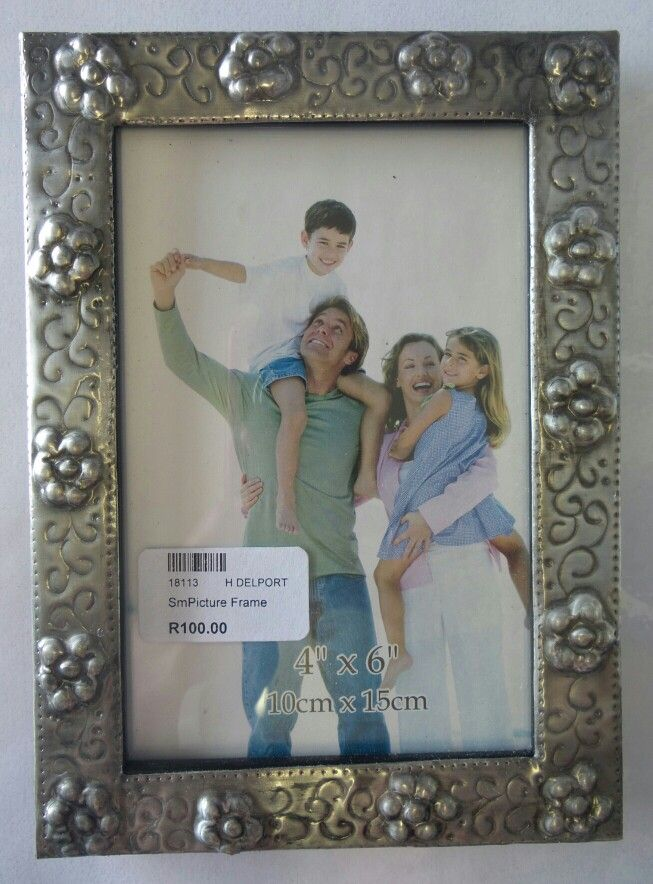 Pewter art picture frame