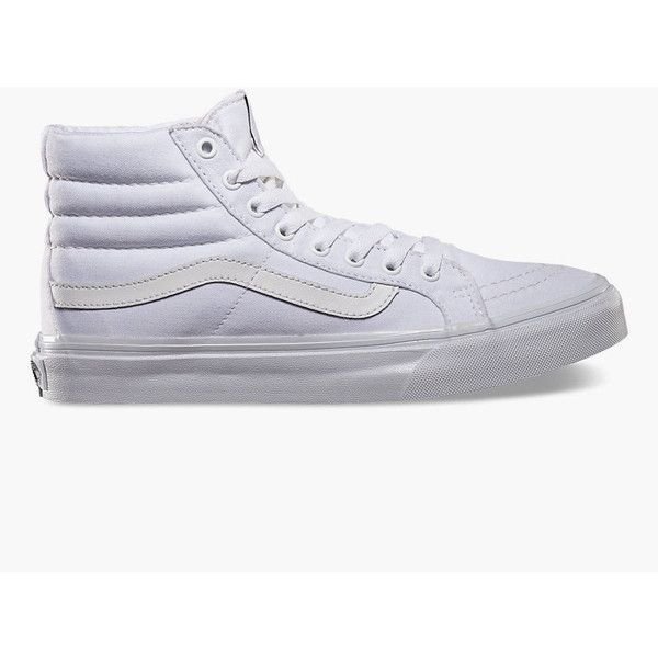 Vans Sk8 Hi Slim Womens Shoes ($55) ❤ liked on Polyvore featuring shoes,