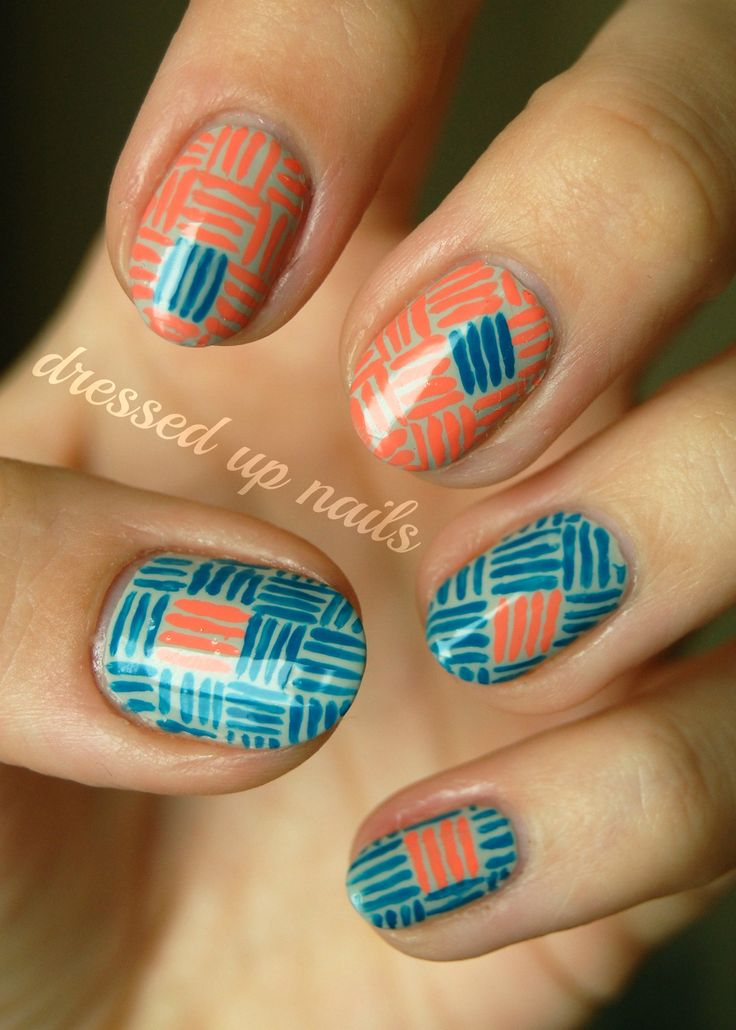 Tribal: Essie Tarts, Colors Patterns, Nails Art, Nails Design, Tribal Nails, Blue Orange, Geometric Design, Cool Patterns, Textiles Patterns