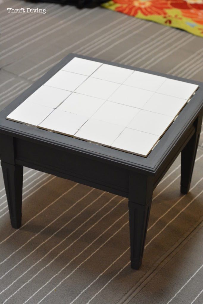 How To Tile A Table Top With Your Own Ceramic Tiles Tile Top Tables Tiled Coffee Table Refinished Table
