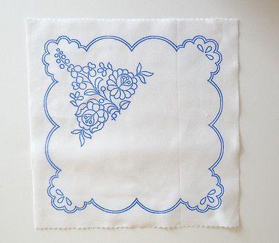 Kalocsa doily pattern print from Hungary New 10'' x 10 '' k DIY