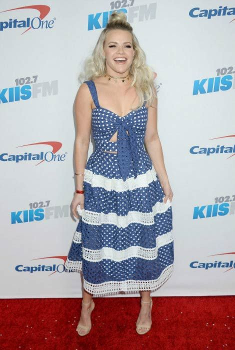 Witney Carson at the 102.7 KIIS FM's Jingle Ball in December 2016...