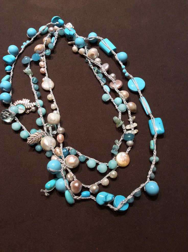 Collana pietre e perle