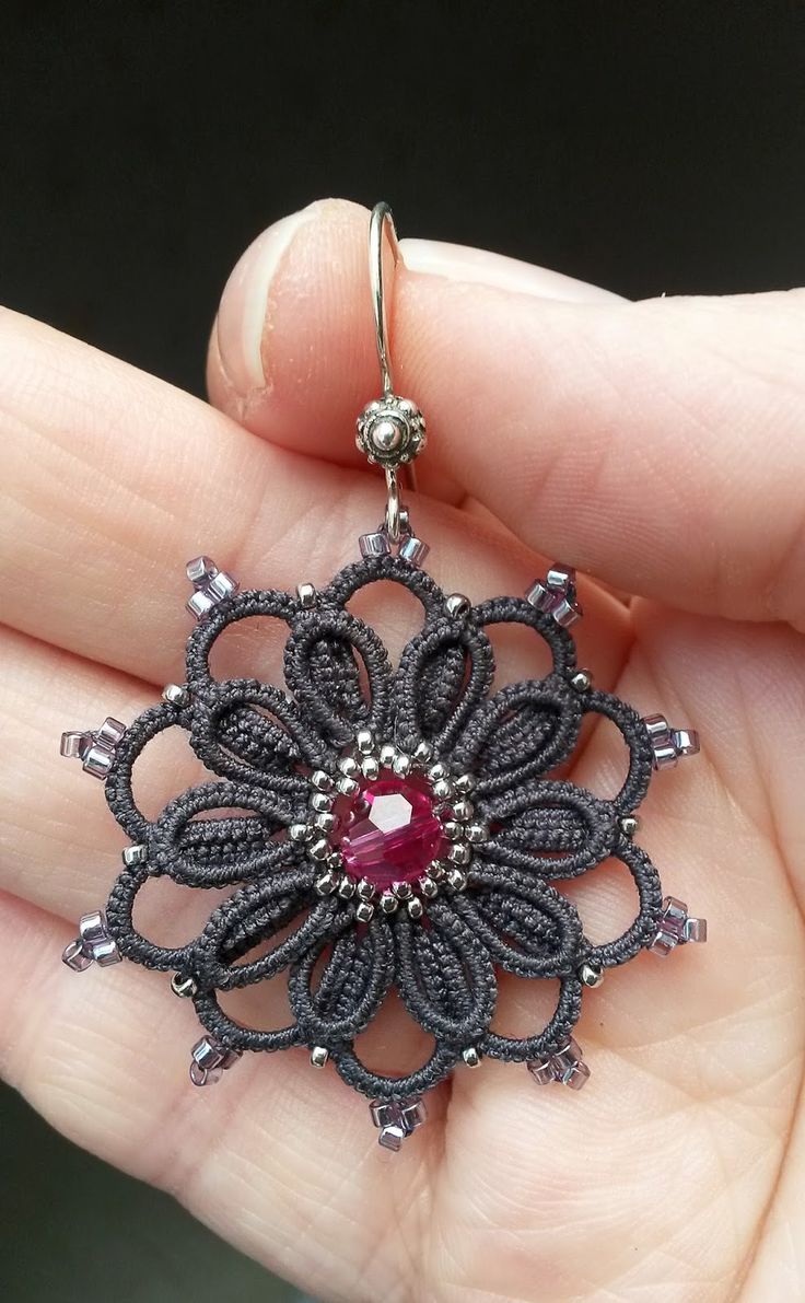 Frivolité à la navette: Encore une petite BO -- Earrings  #tatting #jewelry