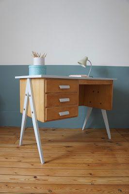 17 best ideas about bureau vintage on pinterest desk ideas desk space and home study rooms. Black Bedroom Furniture Sets. Home Design Ideas