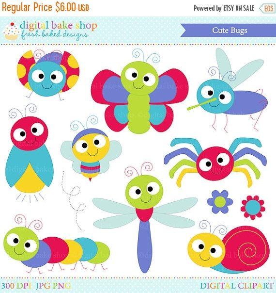 50% descuento errores imágenes prediseñadas insectos clip arte mariquita lady bug abeja mariposa - lindo gráfico de Bugs