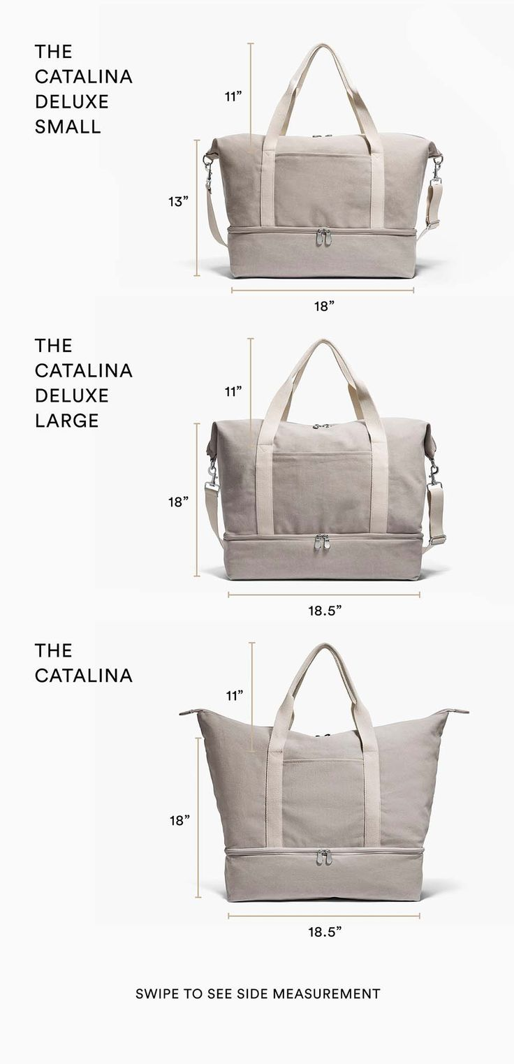Catalina vs Catalina Deluxe Size Comparison Guide - Canvas Weekender Bag
