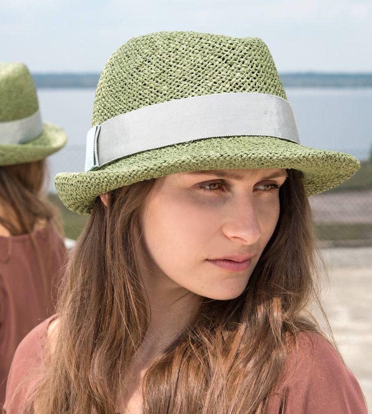 Fedora, Damen Strohhut,Herren Strohhut, straw hat,Fashion,Sonnenhut,men's straw hat,Look kaufen,elegant,Designermode, handgefertigt, Chino