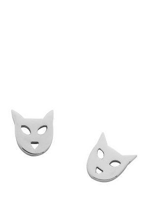 Shop for  #Jewellery at Incu \ Cat Stud Earrings in Silver by Karen Walker \ Incu