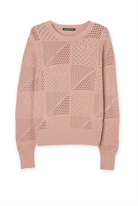 Pointelle Lace Knit