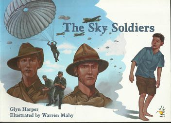 """""""The sky soldiers"""", by Glyn Harper ; illustrated by Warren Mahy - A young boy, living on Crete during the Second World War, survives the German invasion and helps to save an Australian and a New Zealand soldier from the Germans. This leads to a deeper and longer lasting connection between the boy's family and the New Zealand soldier."""