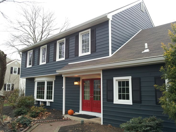 exterior house color schemes gray paint colors for small homes houses blue vinyl siding