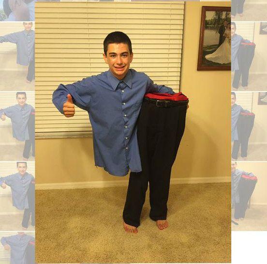Man cut in half costume man cut the o 39 jays and boys for Easy halloween costume ideas for boys
